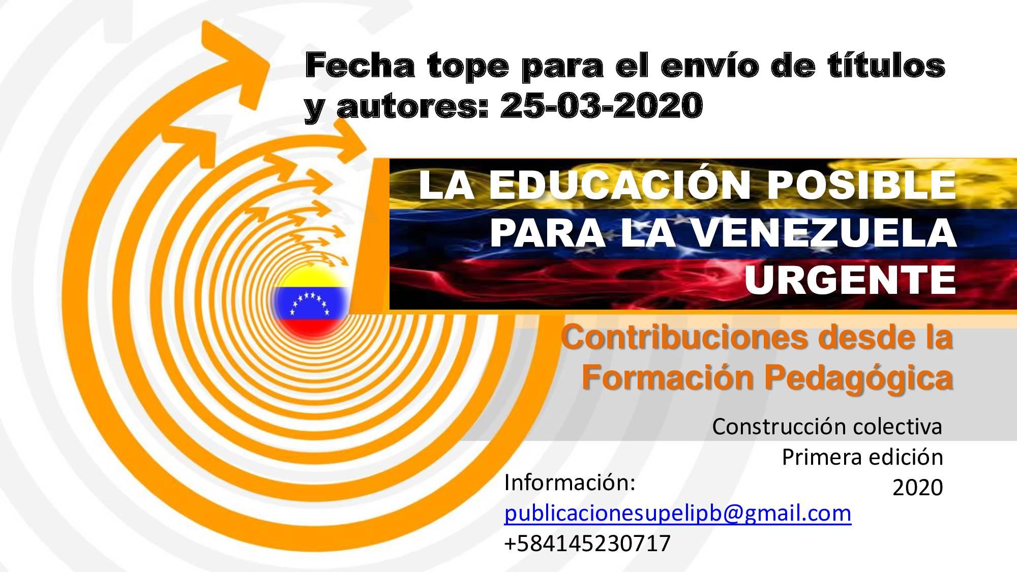 Libro: La educación posible para la Venezuela urgente