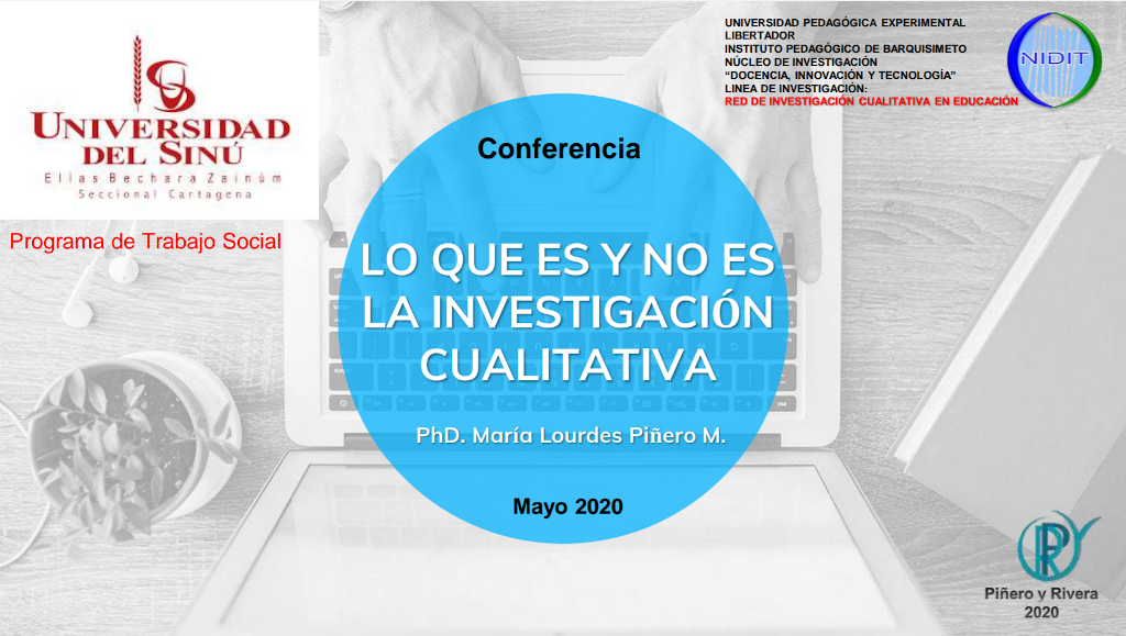 Conferencia de la Dra. María Lourdes Piñero - Universidad del Sinú, Colombia