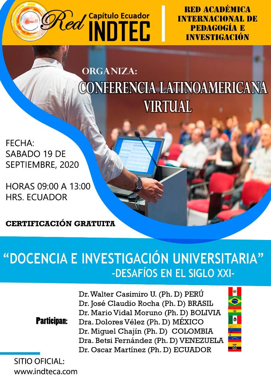 Conferencia virtual Docencia e Investigacion Universitaria: Desafíos en el Siglo XXI